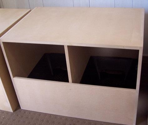front insert rollaway dble nest box